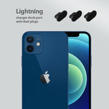 iPhone 12 Charging Port Cover Lightning Plug Set 3 Pack Anti Dust Silicone Cap