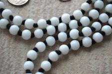 White Jade Prayer Beads Hand Knotted Japa Mala beads boho necklace Yoga Jewelry