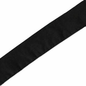 "Black Martial Arts Headband 2 1/2"" wide x 42"" long for Karate Tkd"