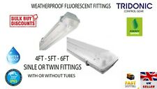 4FT 5FT 6FT WEATHERPROOF LIGHT FLUORESCENT SINGLE TWIN NON CORROSIVE ROBUST NEW