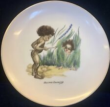 Vintage Browning Downing Plate Depicting Aboriginal Children Playing