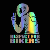 Reflective RESPECT FOR BIKERS Waterproof Biker Motorcycle Decal Car Sticker DIY