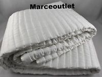 Hotel Collection Plume FULL / QUEEN Quilted Coverlet White
