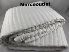 Hotel Collection Plume KING Quilted Coverlet White