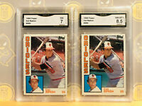 1984 2x Topps Cal Ripken #490 - 7 & 8.5 NM-MINT+ GMA Graded Baseball Card Lot