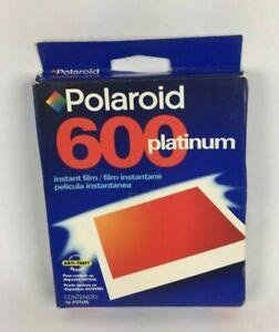 POLAROID 600 Platinum Instant Film Pack Of 10 Exp. 12/2001 - NEW SEALED