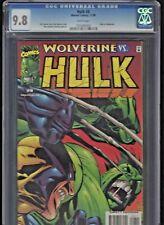Hulk #8 CGC 9.8 (1999 series) Hulk vs Wolverine Low Dist