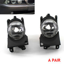 For 01-03 BMW E39 5 Series Front Bumper Replacement Clear Fog Lights ABS Plastic