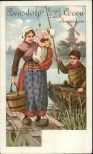 Bensdorp Royal dutch Cocoa Dutch Fishing Familky Baby Private Mailing Card