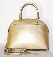 MICHAEL KORS Tasche Emmy Neu450€ Handtasche LG Dome Satchel pale gold Bag Tasche