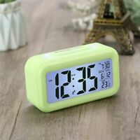 Desk Digital LED Alarm Clocks Thermometer Snooze Watch Electonic Table Calenda