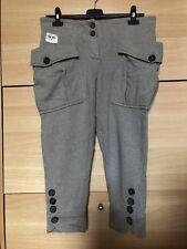 CELYN b. by ELISABETTA FRANCHI pantaloni donna grigio tortora con tasche tg  40 adb5c5f39f9