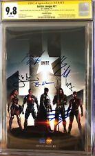Justice League #21_CGC 9.8 SS_Signed Affleck Cavill Gadot Miller Momoa & Fisher