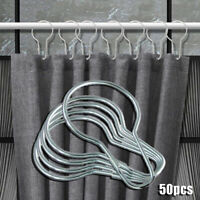 50Pcs Edelstahl Rostfrei Duschvorhang Haken Küche Bad Haken Ringe Set Universal-