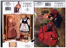 Vogue Craft 9688 & 9832 Doll Storage Trunk & Camping Set Pattern s Retired Uncut