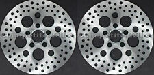 "Harley Brake Rotors 11.5"" Two Front Satin Finish Stainless Steel Drilled 5 Hole"