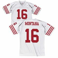MenS Embroidered Rugby Jersey T-Shirt Short Sleeve Quick-Drying Breathable Pullover V Neck San Francisco 49ers #16joe Montana American Football Jersey