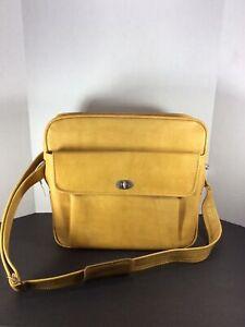 RARE Vintage Samsonite Profile Gold Overnight Carry-On Luggage Bag With KEY