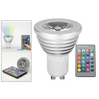 GU10 LED Ampoule Projecteur Lampe RGB avec Télécommande 3W Décor De Noël
