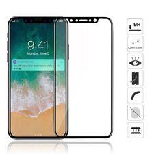Full Cover Tempered Glass Film Screen Protector 5D For Apple iPhone 10 / X BLACK