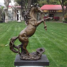 Royal Aristocratic Art Deco Sculpture fengshui Horse Bronze  Marble Statue