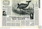 Coupure de presse Clipping 1974 (2 pages) Moby Dick Herman Melville Gregory Peck