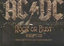 "AC/DC ""Rock Or Bust""  World Tour Exclusive Collector's Box Set Shirt Cap"