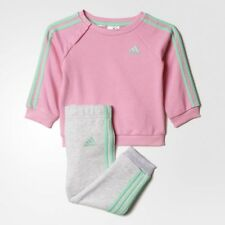 girls adidas Infants Mini-Me sweat set sweatshirt and joggers size 0-3 Months
