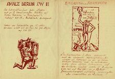 FINGESTEN Michel, Pubblicità per sottoscrizione cartella 1932 con H. Uhl, Raro !