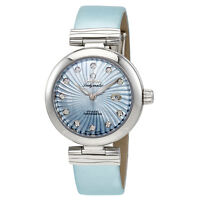 Omega DeVille Ladymatic Automatic Blue Mother of Pearl Dial Ladies Watch