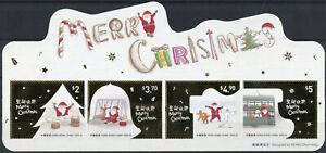 Hong Kong Christmas Stamps 2020 MNH Santa Festive Scenes Reindeer 4v S/A Set