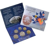 2001 Centenary of Federation 6 coin UNC Mint Set