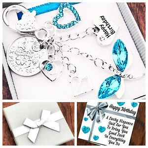 11th 13th 15th Birthday Gift, Sixpence, Aqua Dragonfly, 60th 70th Box & Card