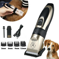 Professional Quiet USB Electric Pet Cat Dog Hair Trimmer Clipper Shaver