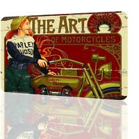 METAL SIGN The Art Of Motorcycles 1917 Classic Unique Poster Decor Garage RUSTED