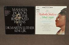 MAHALIA JACKSON 2 LP LOT VINYL ALBUMS COLLECTION Silent Night/Martin Luther King