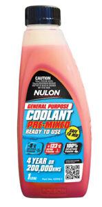 Nulon General Purpose Coolant Premix - Red GPPR-1 fits SsangYong Stavic 2.7 2...