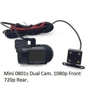 Mini 0801s DUAL CAM GPS Car DVR HD1080P G-Sensor DashCam