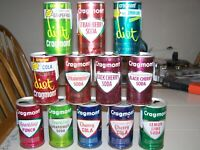 12 Vintage Soda Pop Cans Craigmont