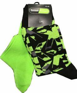 Original Kawasaki Socks Stockings Camouflage + Lime Green Set New Socks