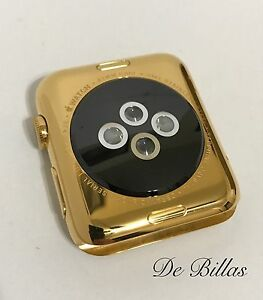 24 Karat Gold 42MM Apple Watch Stainless Steel Custom Body Only