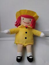 Kohls Cares Madeline Doll Plush Stuffed Animal Toy Yellow Hat Coat Girl P37stl