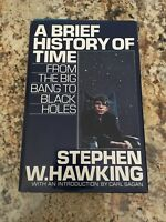 [RARE] A Brief History Of Time-Stephen W. Hawking-1st Ed., Hardcover VG