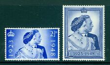 More details for sg493-494, £1 blue, nh mint. cat £40. royal silver wedding.