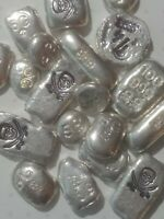 Lot of 1 oz POURED SILVER - .999 Fine -Skull And Crossbones - Fractional weights