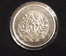 Medusa of Greek Mythology 1oz Antique Silver with Coa & Limited Mintage of 2000