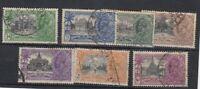 India KGV 1935 Silver Jubilee Set SG240/246 Fine Used JK2013