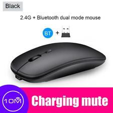 2.4GHz Bluetooth Wireless Optical Mouse for Android Apple Mac + USB Receiver