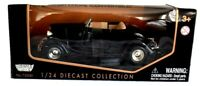 1934 Ford Coupe Convertible Die Cast Car Motor Max Black 1/24 Scale #73200 New