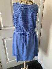 George Cotton Dress, Size 16, Baby Blue